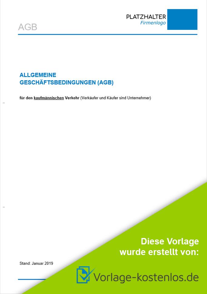 Agb Muster-Beispiel & Vordruck zum Download von vorlage-kostenlos.de